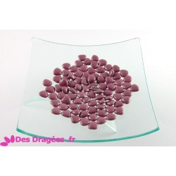 Dragées chocolat mini-coeur violet, déclassées