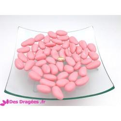Dragées amande rose nacre brillant, déclassées
