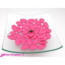Dragées chocolat rose foncé, déclassées