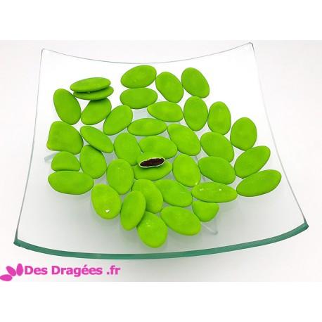 Dragées chocolat vert pistache mat, déclassées - 1kg