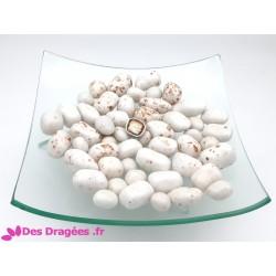 Dragées noix de coco enrobée de chocolat, blanc moucheté, déclassées - 1kg