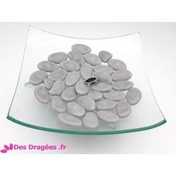 Dragées chocolat gris clair, déclassées