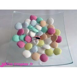 Dragées chocolat palet multicolore mat, déclassées