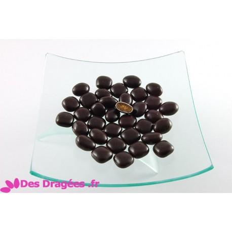 Dragées au caramel d'Isigny, couleur chocolat, déclassées