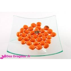Dragées au caramel d'Isigny, orange, déclassées
