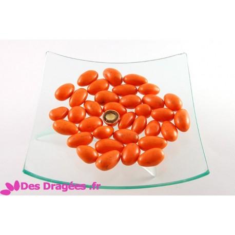 Dragées amande enrobées de giandujine, orange, déclassées