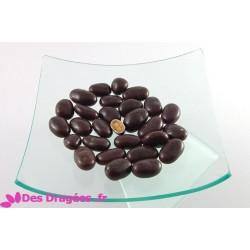 Dragées amande Avola enrobées de chocolat caramel et de spéculoos, couleur chocolat, déclassées