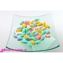 Dragées amande multicolore mat, déclassées