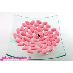 Petites dragées chocolat rose mat, déclassées