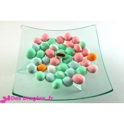 Dragées aux fruits, multicolore mat, déclassées