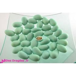 Dragées amande 30% vert d'eau mat, déclassées