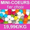 Dragées chocolat mini-coeur 1er choix