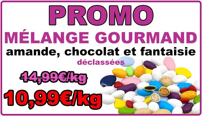 Promo : dragées mélange gourmand multicolore, déclassées