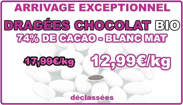 PROMO : dragées chocolat bio