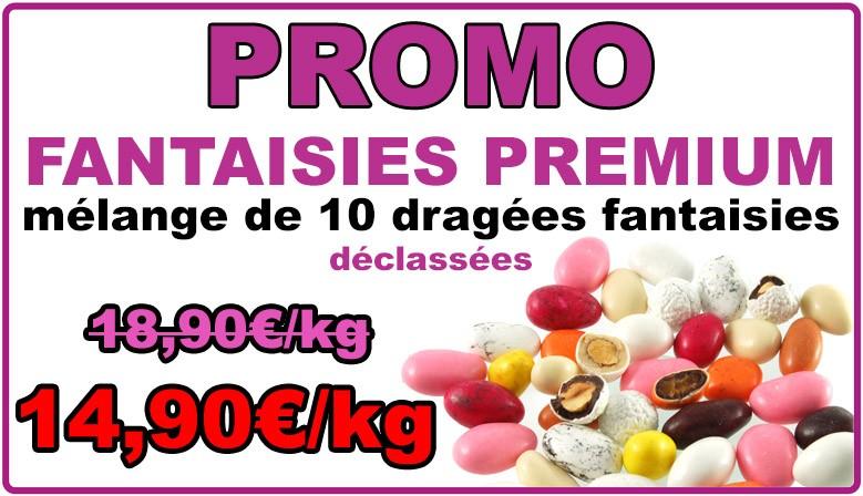 Promo : dragées fantaisie premium multicolore, déclassées